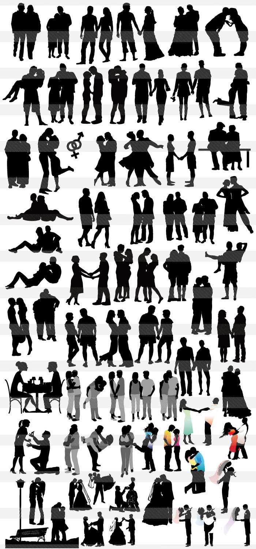シルエット素材集 | illustratorのモノクロシルエット・単色の影絵